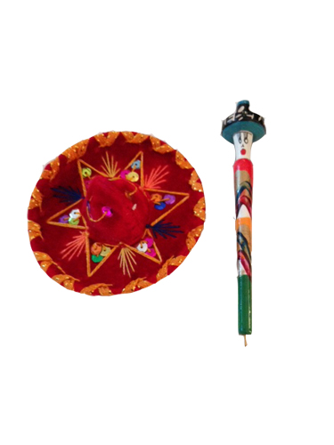 Mexican pen and hat magnet